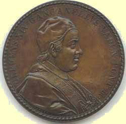 medallion of Clement XIV