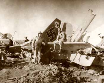 wreckage at C. airport in Naples WW2