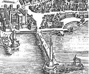 1633 map of old port